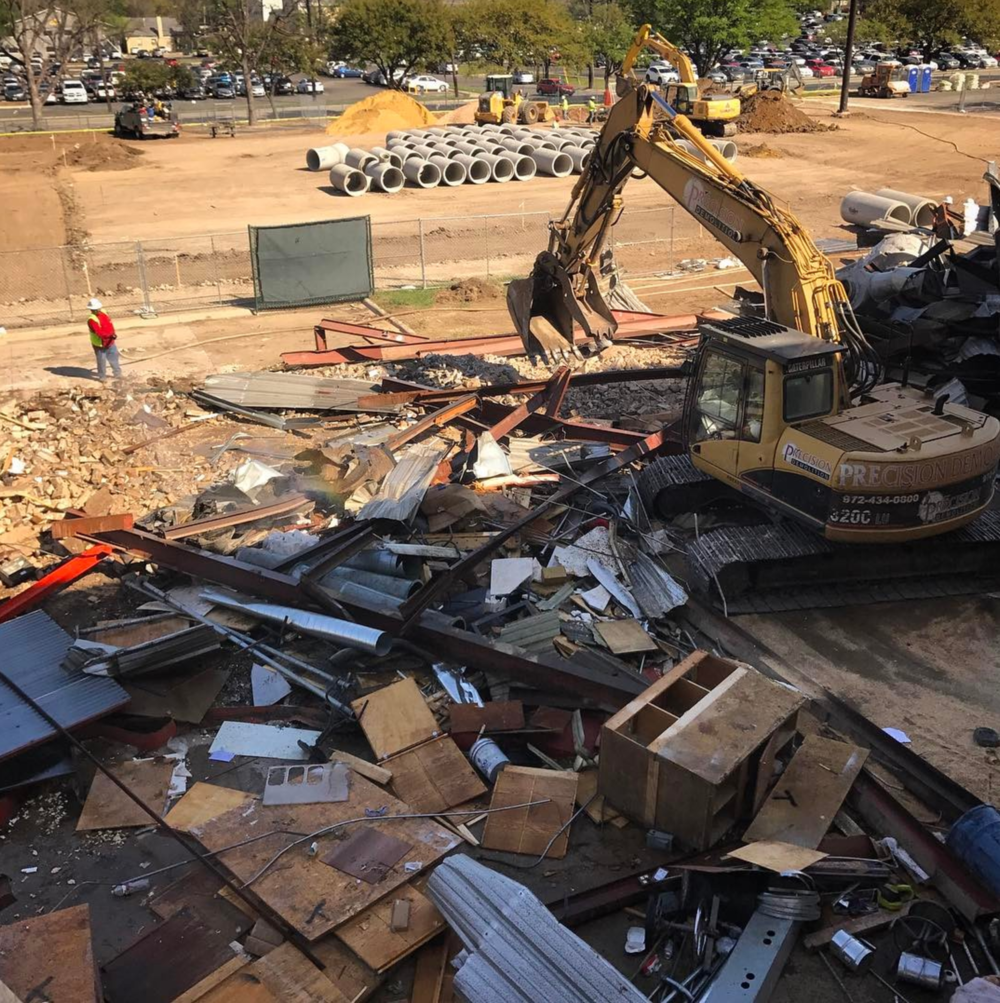 UNT making room for a new CVAD building. Photo by @kclose3.