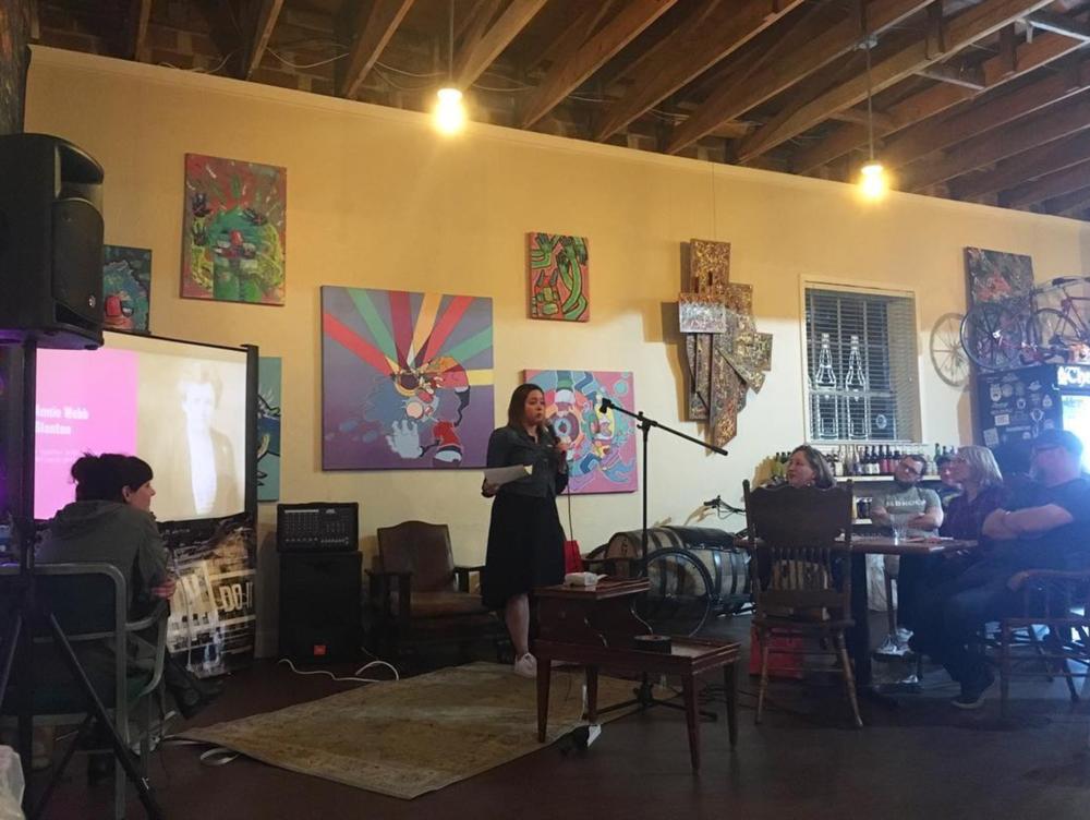 Alyssa Stevenson discussing powerful women of Denton at last week's @nerdnitedenton.