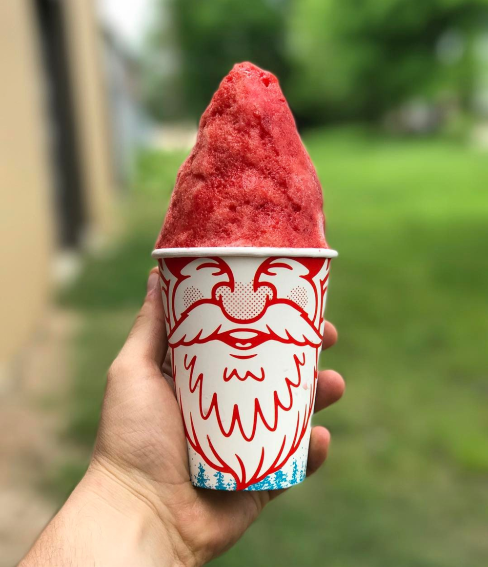 @gnomecones are all natural snow cones with a great visual design coming to cool off Denton this summer.