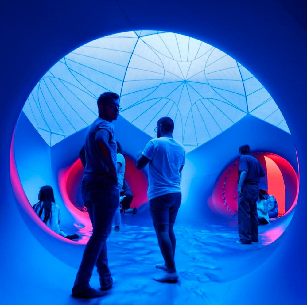 @bradholt inside the Luminarium at UNT last week.
