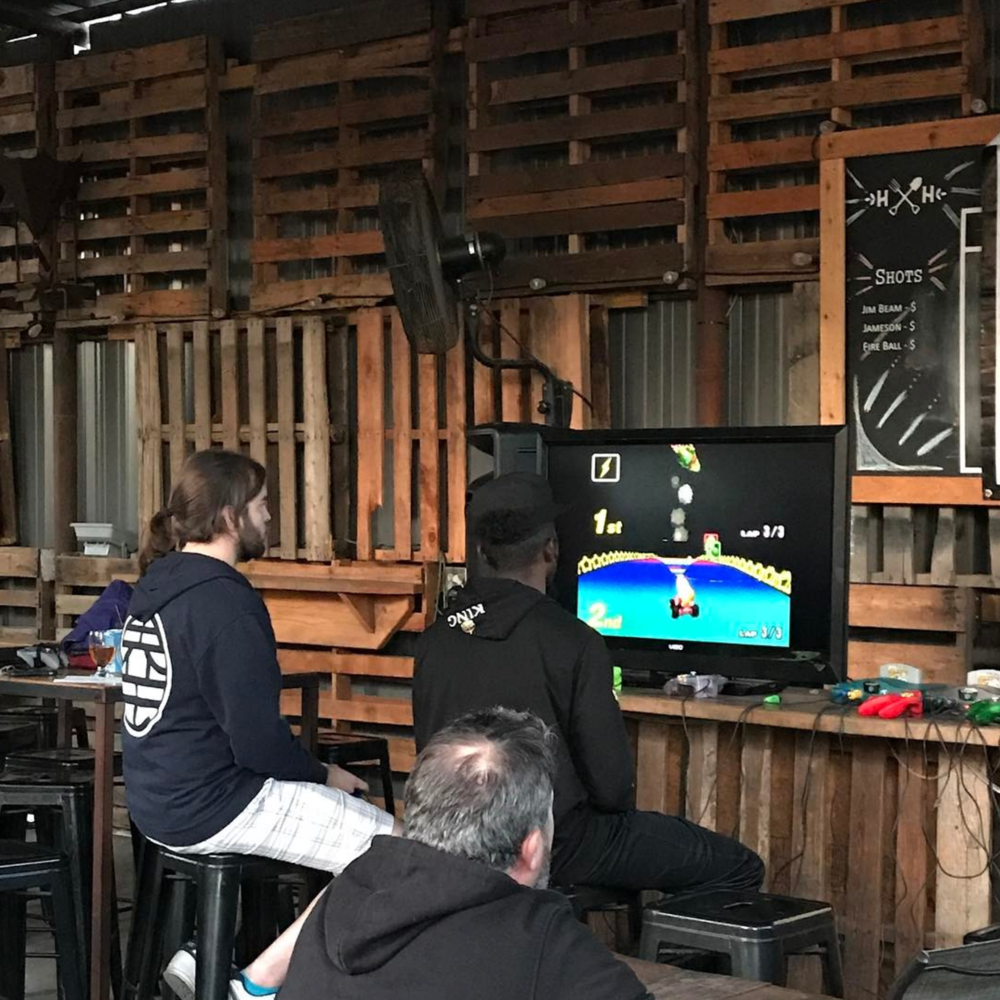 A shot from the Mario Kart 64 championship put on by Techmill at Harvest House last week. Photo by @daniellegaither.