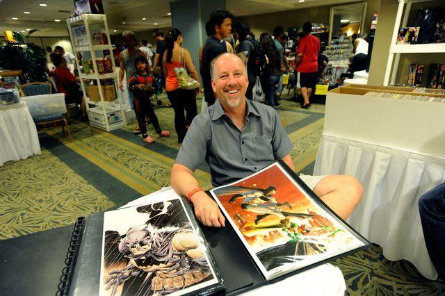Scott Williams, comic book legend and artist of the Denton Batman #1 variant cover exclusive to More Fun Comics, will be signing his work Saturday May 6. Photo courtesy of  Honolulu Star-Advertiser .