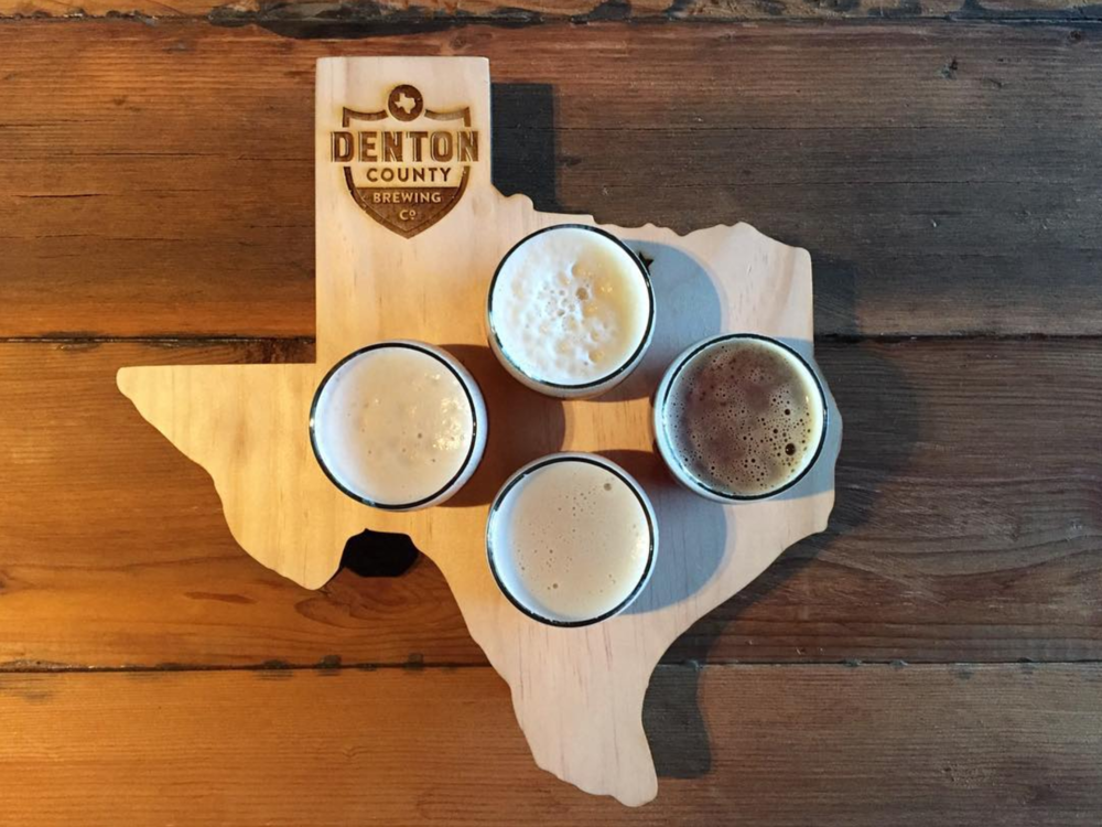 @heathermount and an impressive flight from the recently-opened Denton County Brewing Co.