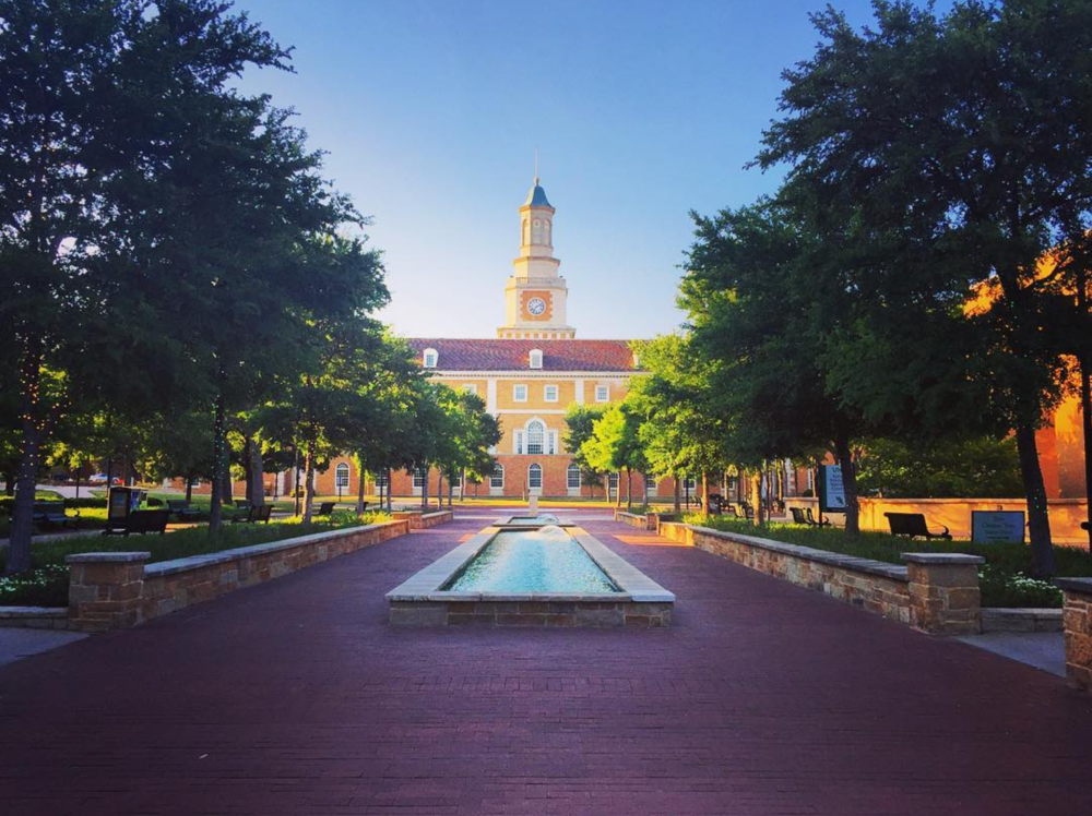 The UNT campus in the summer is much more peaceful. Photo by @aereis22.