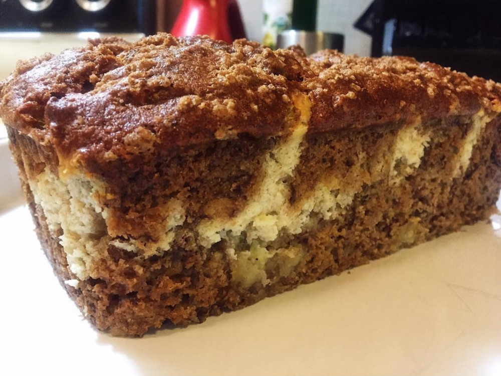 @hannahbananabreads' Instagram account is full of amazing looking photos of the eponymous baked goods. The loaf above has a cream cheese swirl. If she wanted to send me over a loaf (you know, for testing purposes), I sure wouldn't complain.