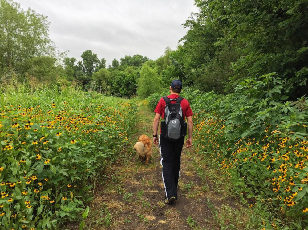 @heathermount exploring the recent blooms at Clear Creek Natural Heritage Center.
