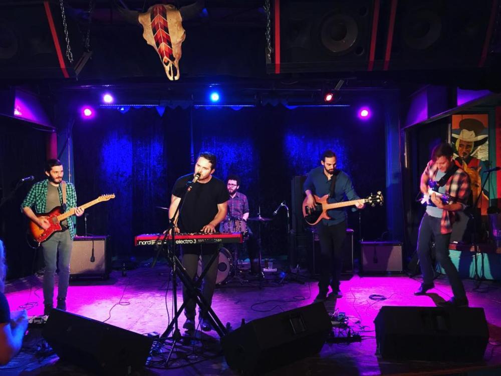 Wesley Jensen performing at Dan's Silverleaf last week. Photo by @mkernan.