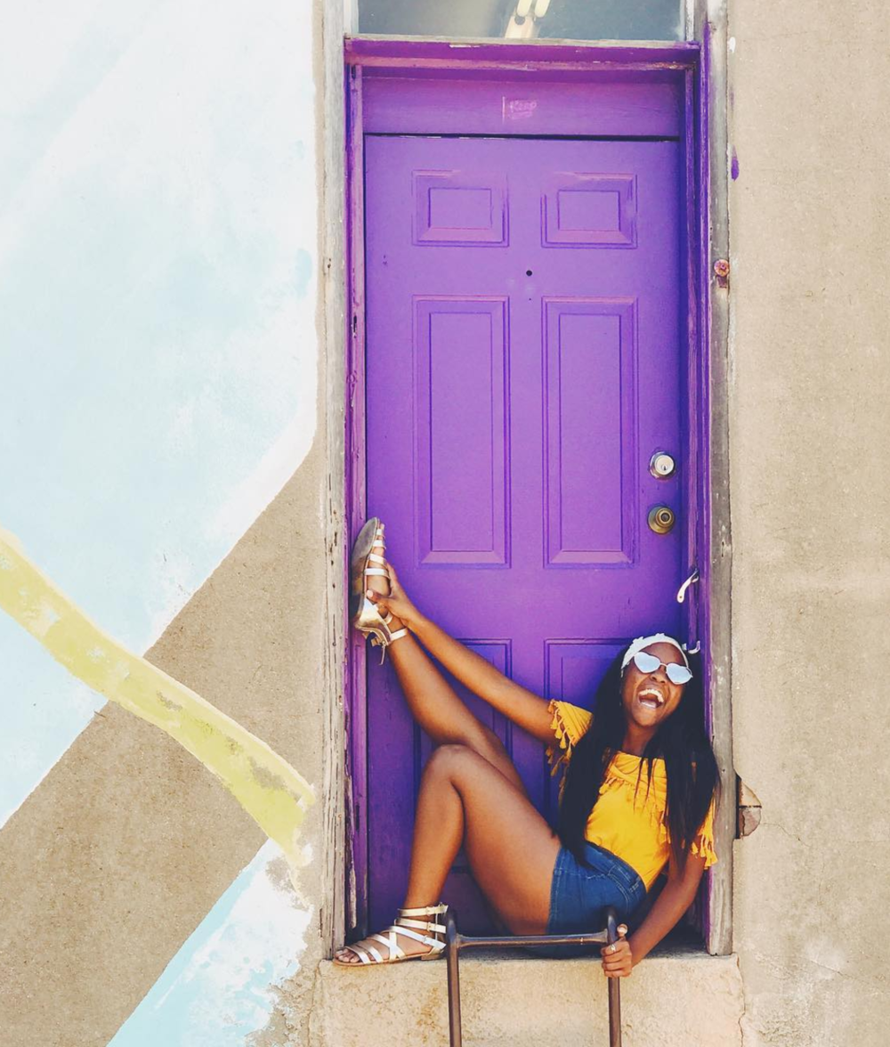@theprincesstino made it over to the purple door. Check out this and a few other great Denton photo ops at our list here.