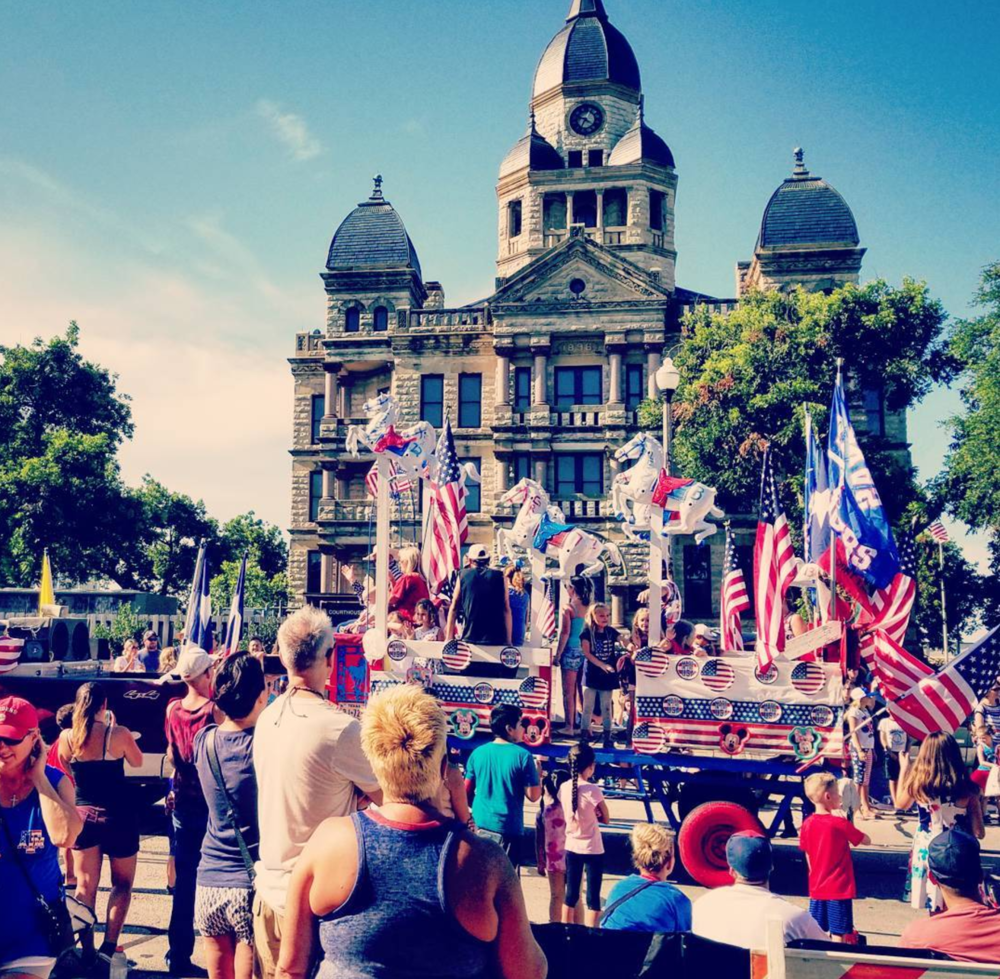 @illuminaredesigns at the annual 4th of July parade on the square.