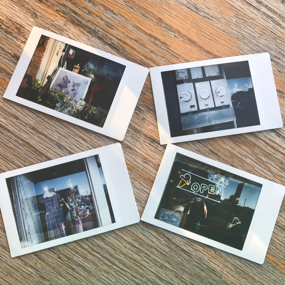 @daniellegaither with some Instax shots from the Denton Polawalk on Sunday evening.