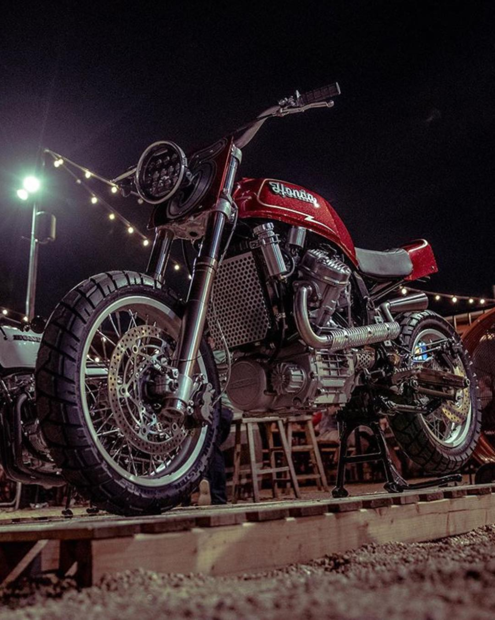 @dentonmoto shared this image of @olcmoto's #supermotoscramblerstein at East Side shot by @ olcmoto .