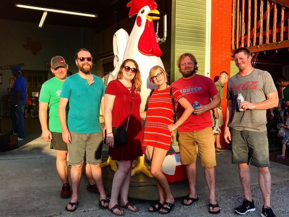@beardnbeerd and co made the trek over to the fried chicken mecca, Babe's.