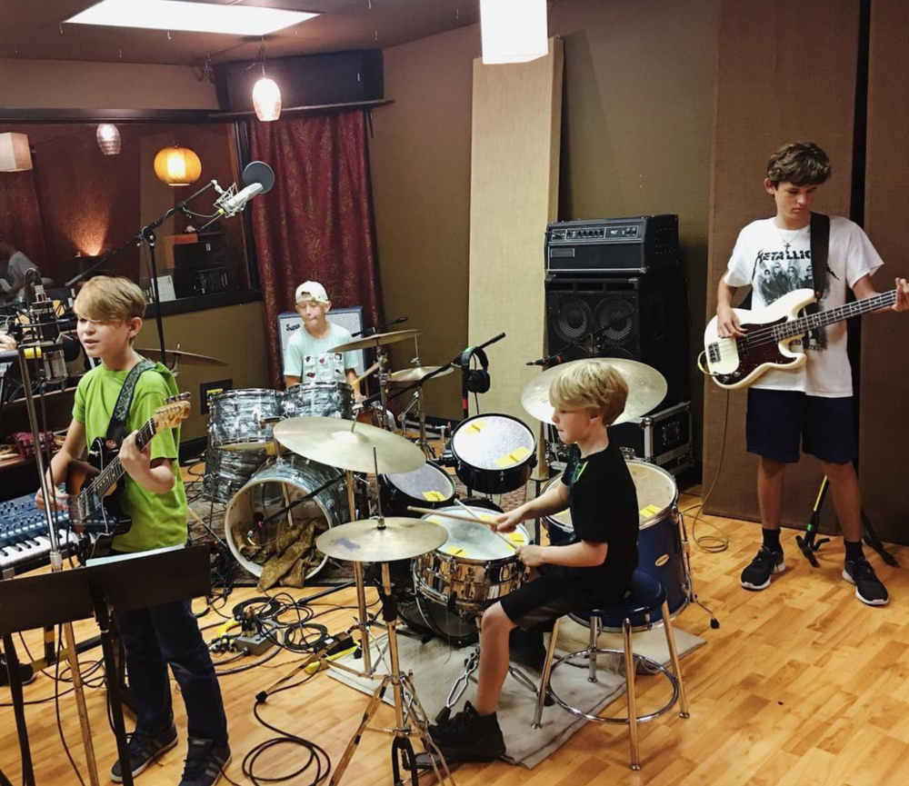 A scene from summer camp at @dentonmusicworkshop.
