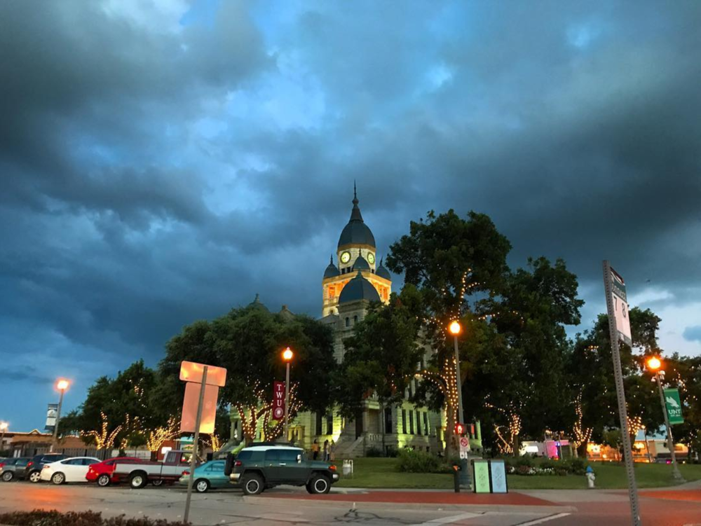 @bigdock with a photo of the courthouse on one of the stormy nights of last week.