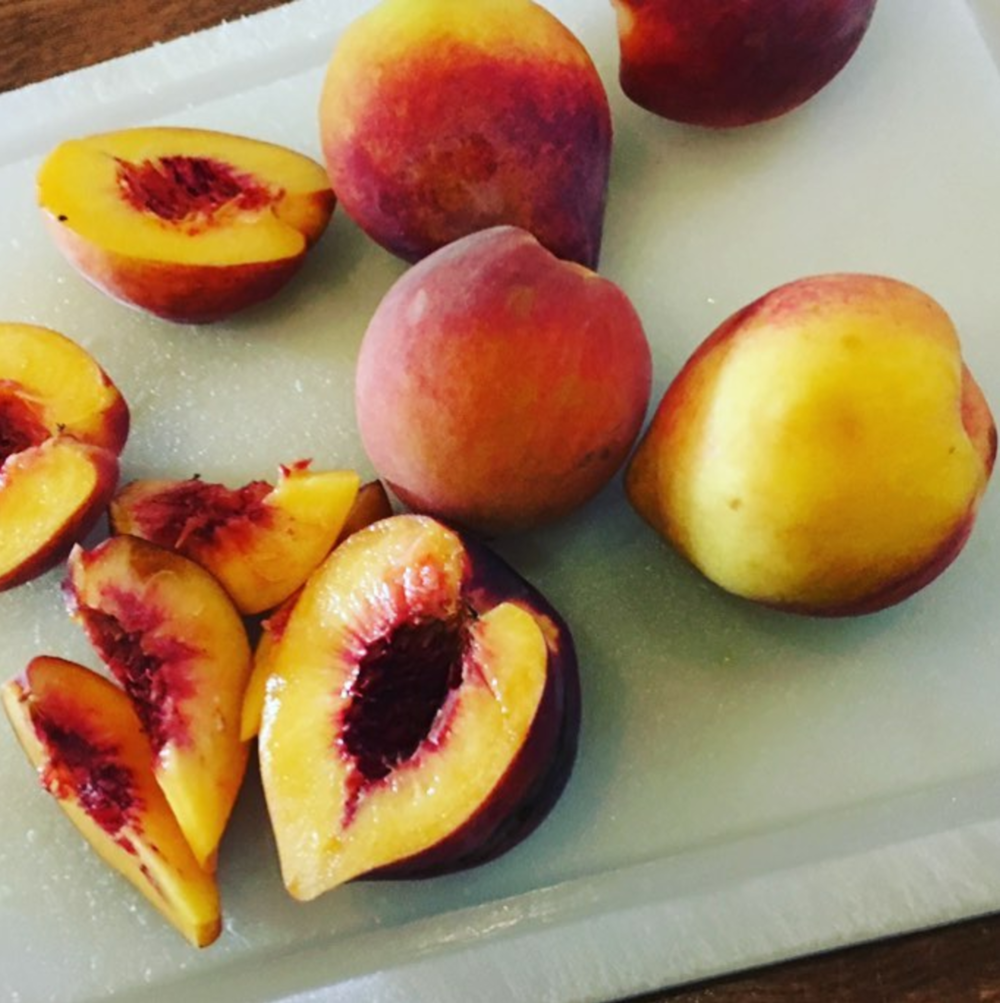 Stop by @mulberrystreetcantina for some delicious tequila drinks featuring local peaches.
