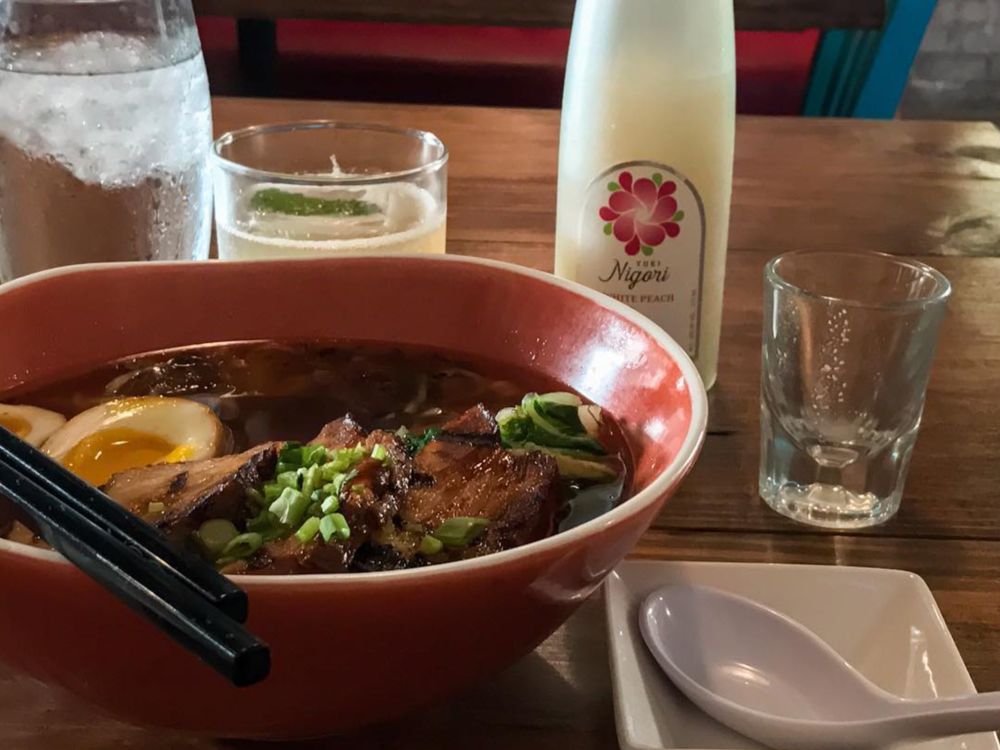 A bountiful bowl of ramen at Komodo Loco from @mevanecek.