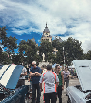 Arts and Autos is this Saturday on the Denton square.
