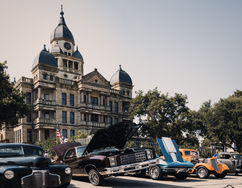 Arts and Autos brought more classic and interesting cars than ever before to the Denton square for its 18th year. Here's a photo of one of our favorites on Oak St. from Saturday. Photo by @wedentondoit.