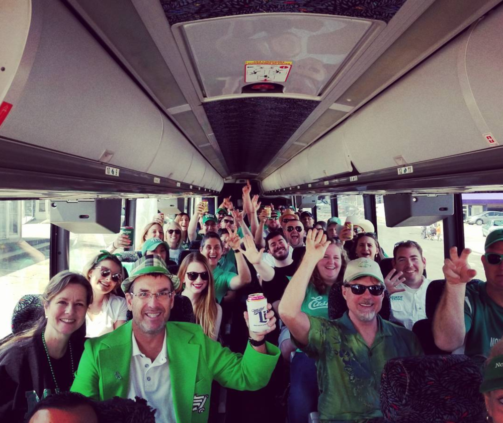 Taking a bus from Denton to Dallas to watch the UNT game last week. Photo by @big_b_1000.