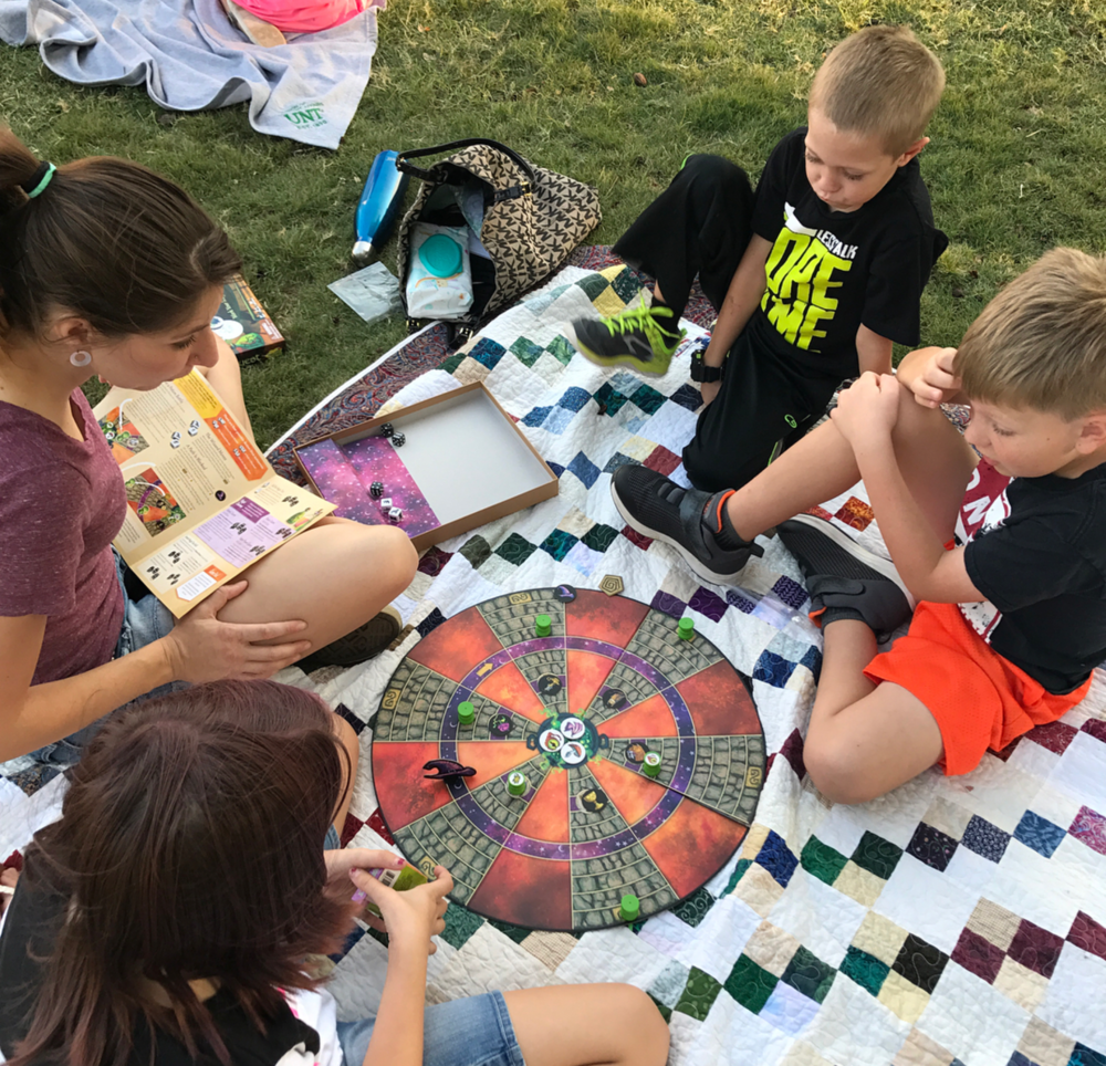 @brightneighborhood hosted a community game night on the square last week.