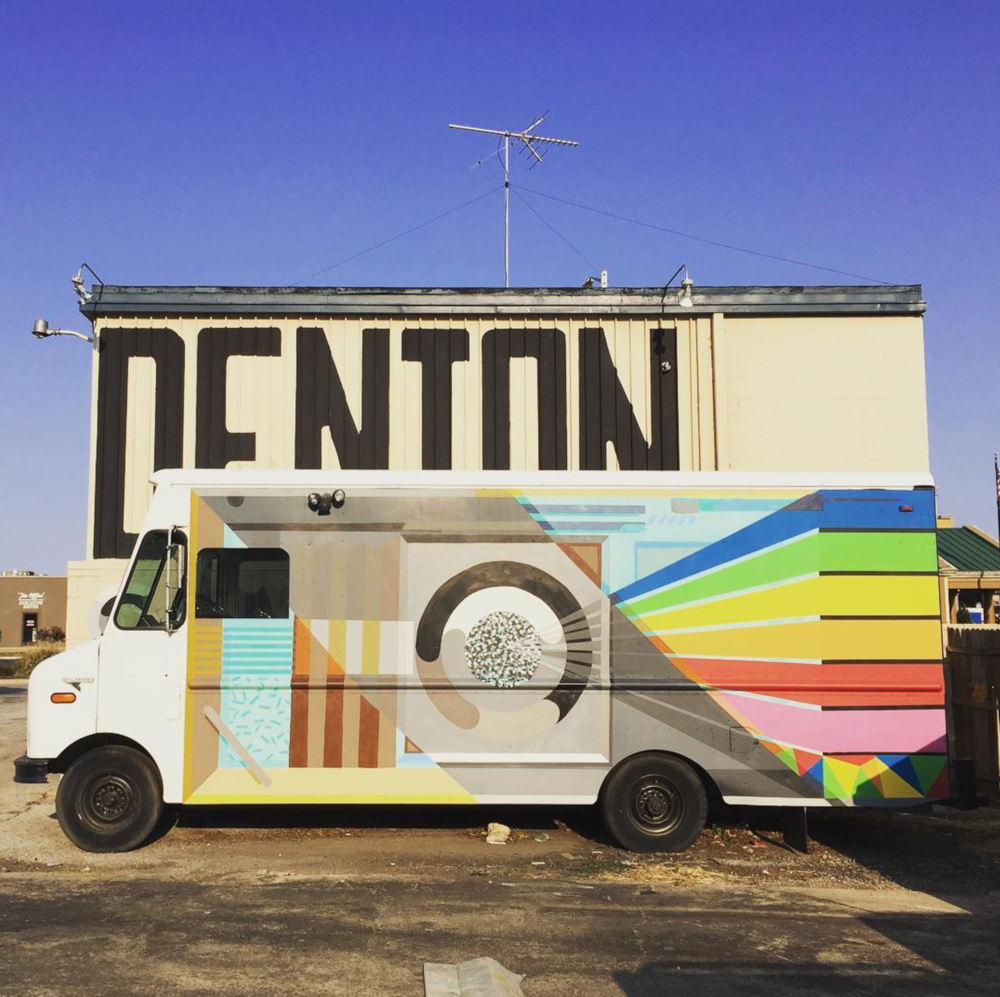 @amyranth13 with a shot of Denton Camera Exchange's beautiful Instant Film Truck.