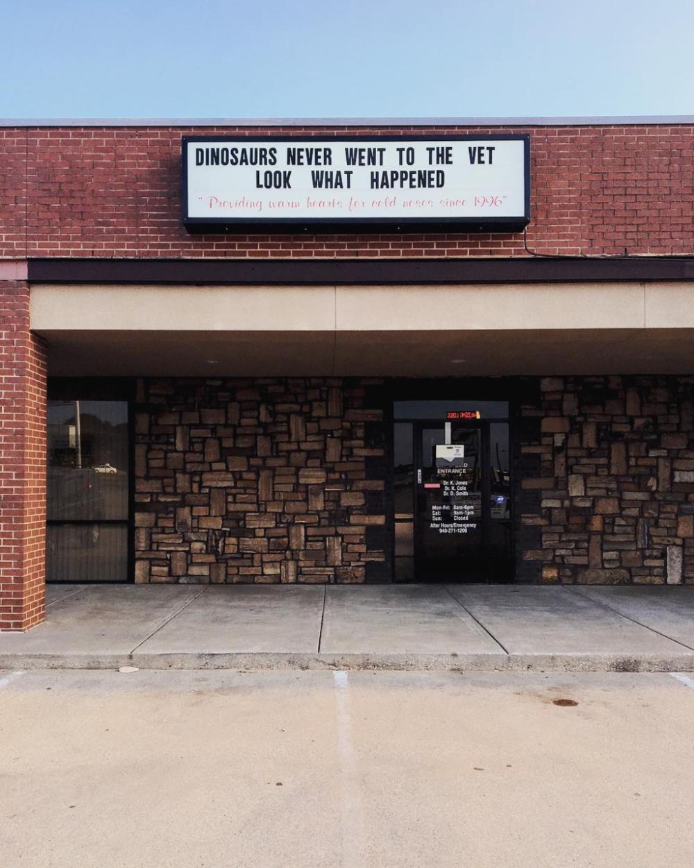 This Denton vet's signage wins. Photo by @kkendrickbigley.