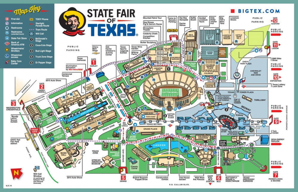 Texas State Fair Map Map Usa Map Images - Usa map texas state