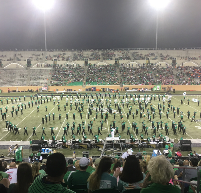A photo from @bearyfine at UNT's game on Saturday night when they beat out UTSA.