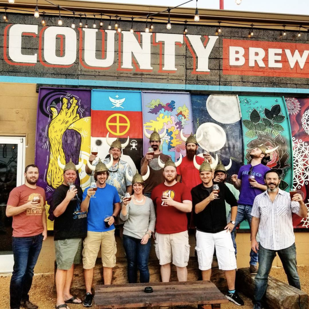 A group portrait of the Aegir's Ale release at @dentoncbc last week. Photo by @greatamericanbrewerytour.