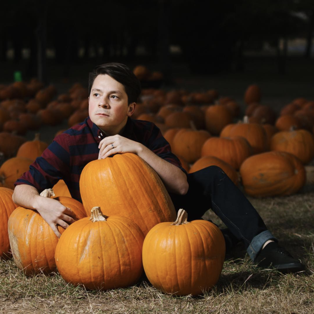 @anthonynajera90 shot by @punk.cakes in a pumpkin patch with some off camera flash.