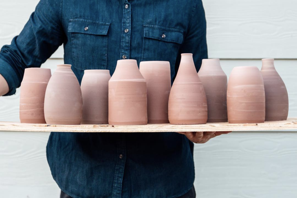 Handmade vases from @dianabarns.