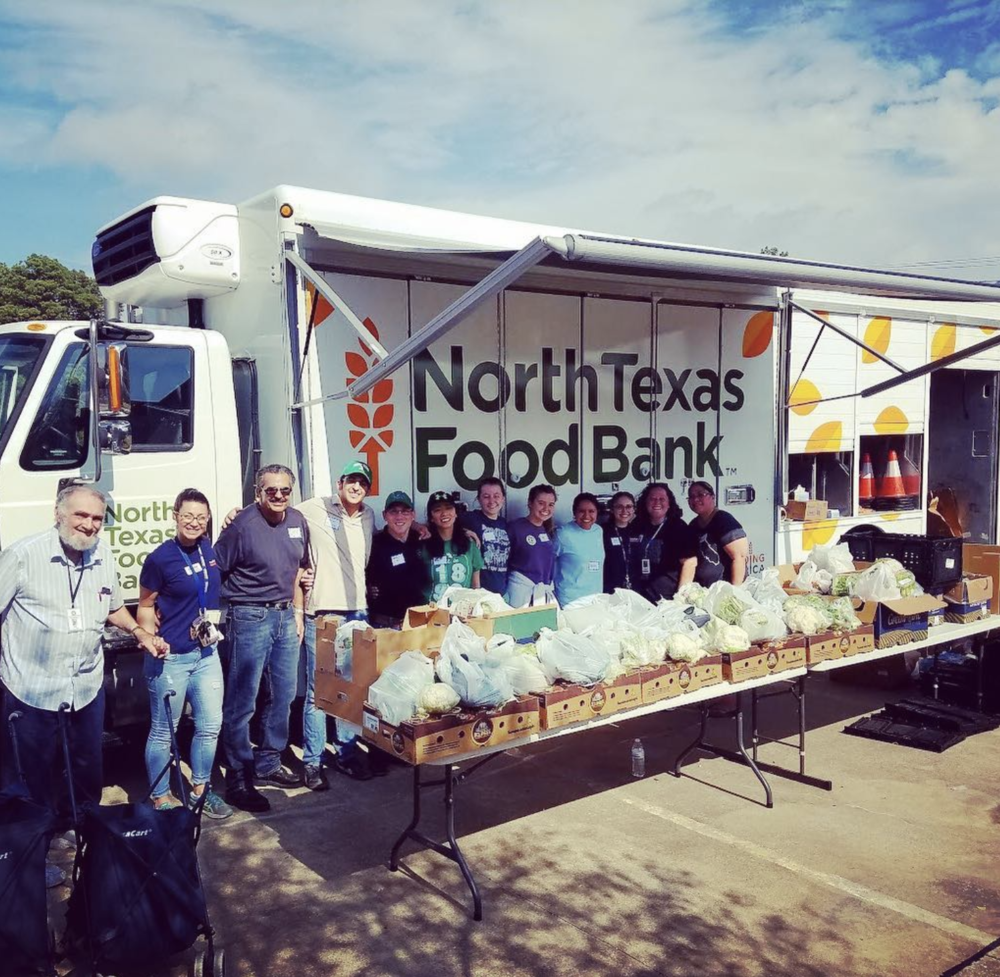 @mothernature22 with the North Texas Food Bank crew.