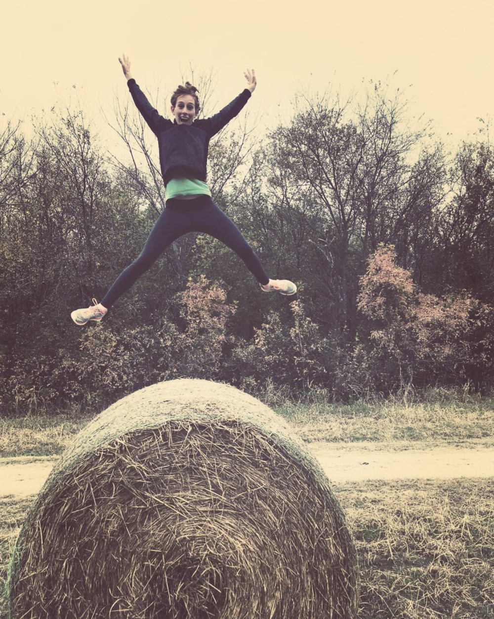 @candus813 and some hay bail jumping.
