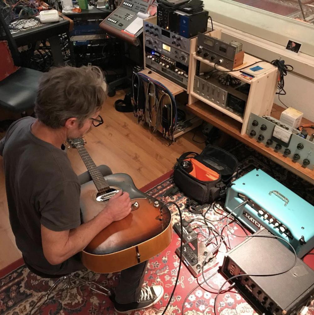 @glenfarris recording some sounds with Doug Burr.