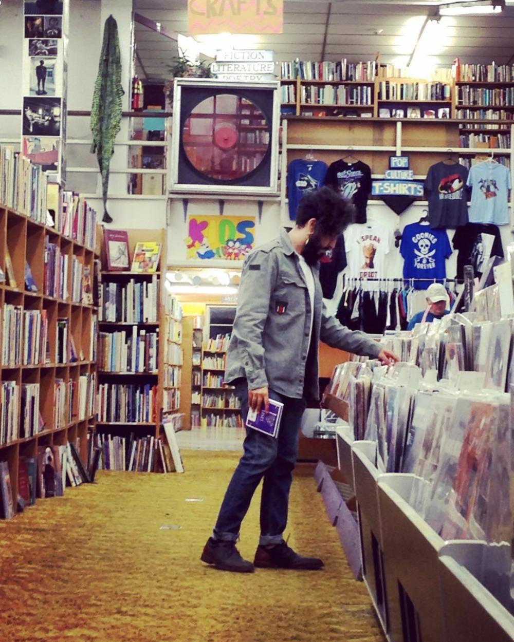 Record shopping with @javinatorzilla.