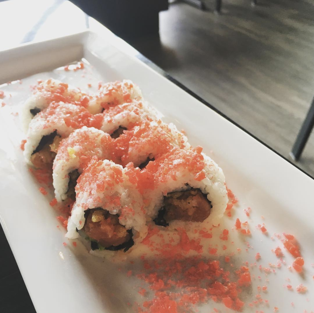 @arozell checked out the newly-opened Rock and Roll Sushi on Hickory St.
