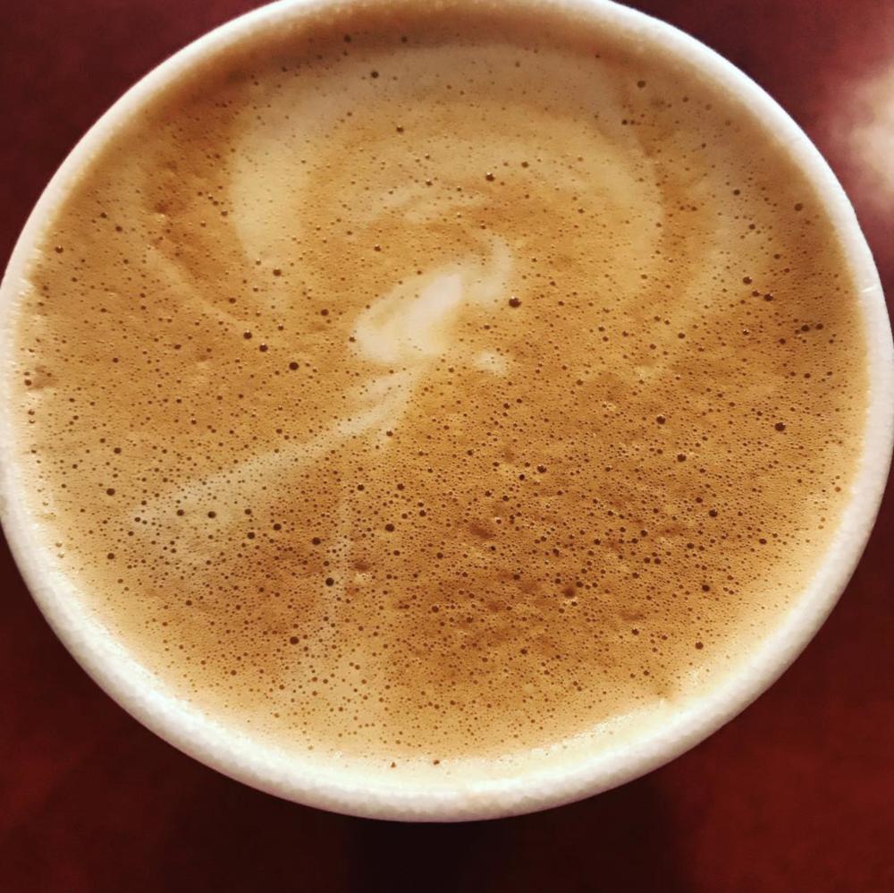 @bigdock and a beautiful breve latte.