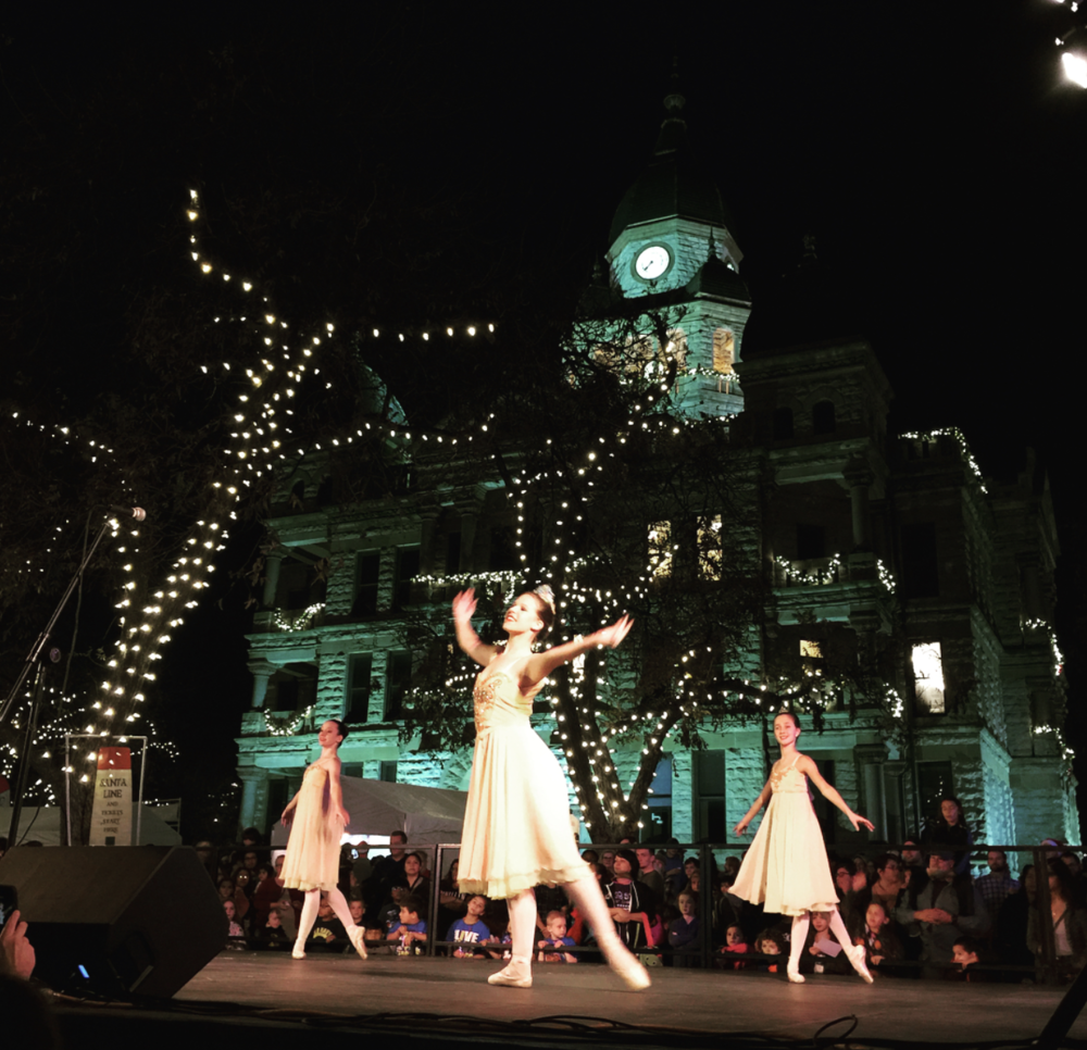 The Denton Holiday Lighting Festival is one of only a handful of events during which the streets on the square are shut down to traffic. Here's a photo of some of the evening's festivities from @veronica_n_denton.
