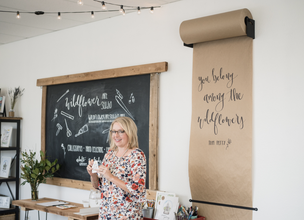 @wildflowerartstudio had a couple of sold-out preview classes in their beautiful, new brick and mortar space on Locust St.