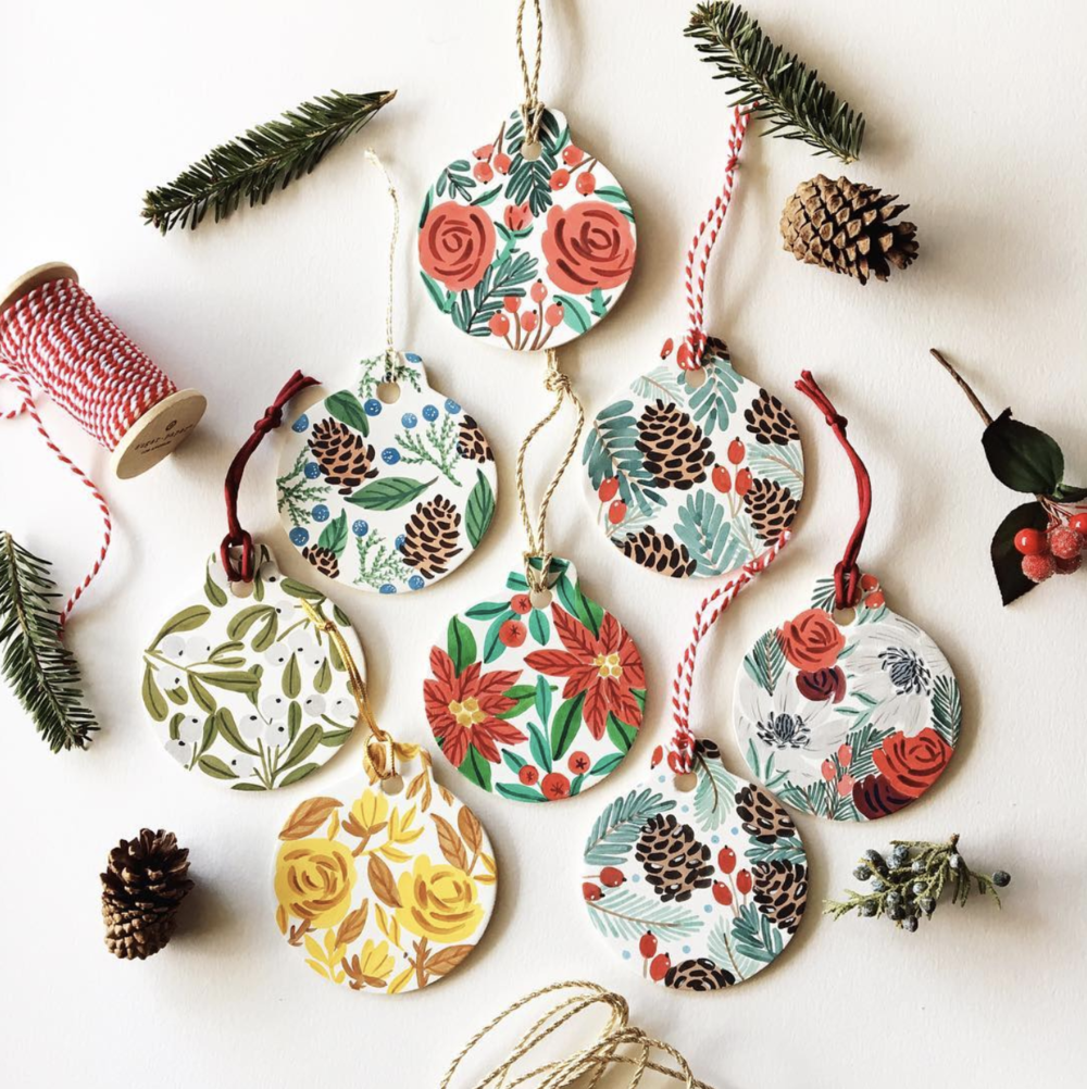Some beautiful holiday ornaments from @yandijester.