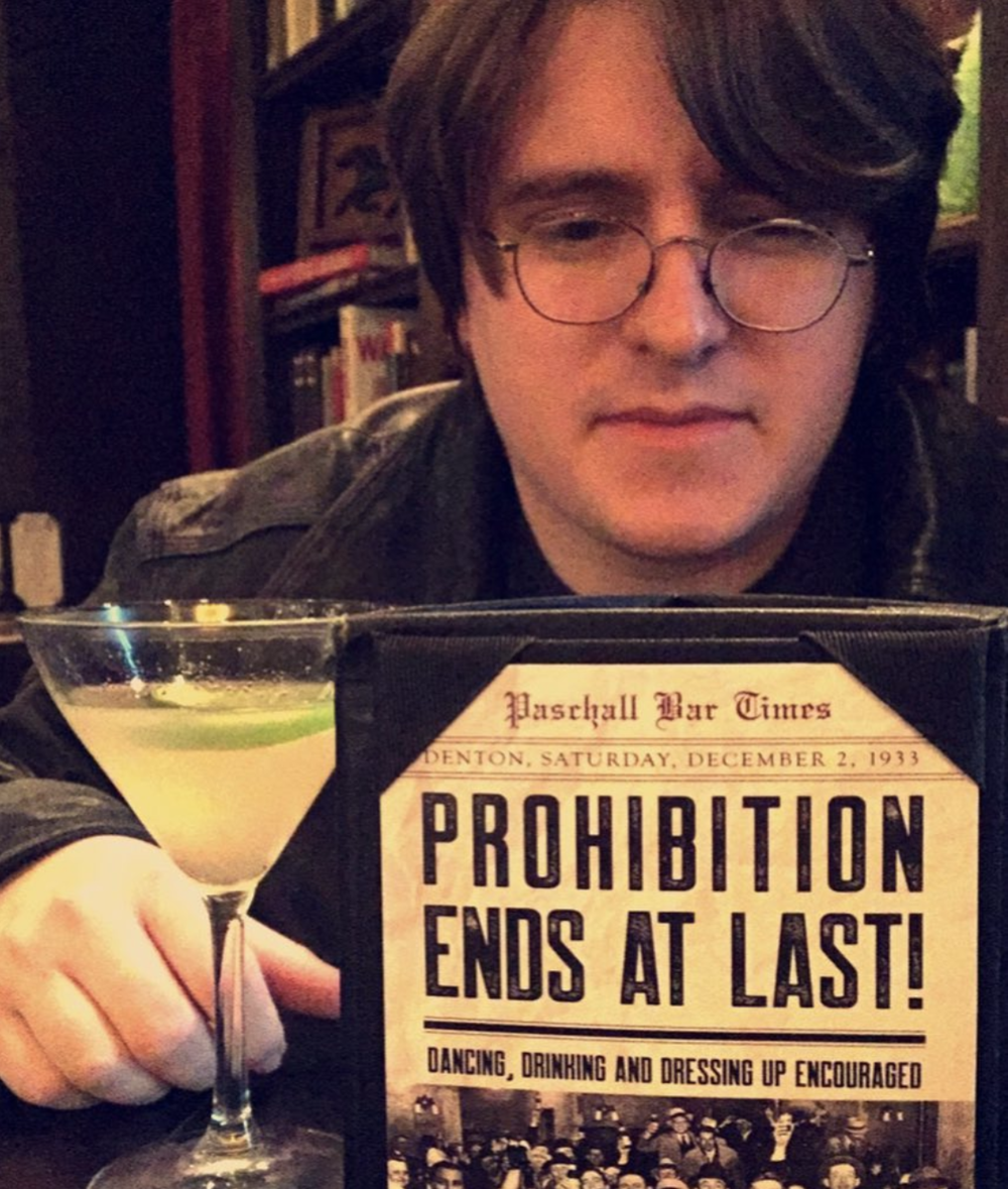 @drcruz32 celebrating the end of Prohibition at Paschall Bar.