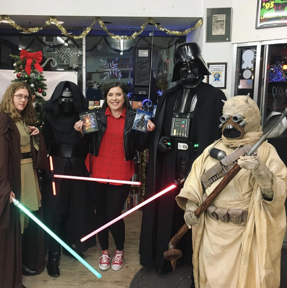 The force is strong with @recycledbooksdenton.