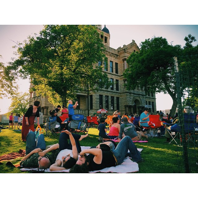 Twilight Tunes on the Denton square.