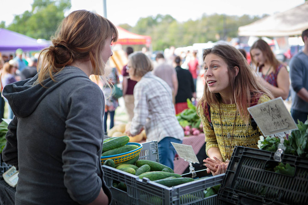 Make sure to swing by the Denton Community Market this weekend! Photo courtesy of dentoncommunitymarket.com.