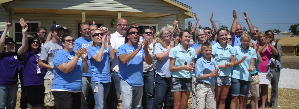 Convoy of Hope. Dedication of first energy efficient homes - Joplin, Missouri