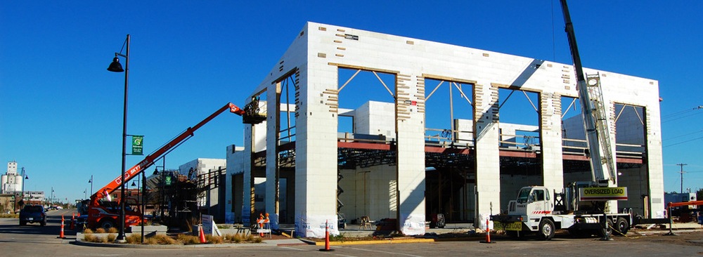 Kiowa County Commons building under construction, LEED Platinum - Greensburg, Kansas