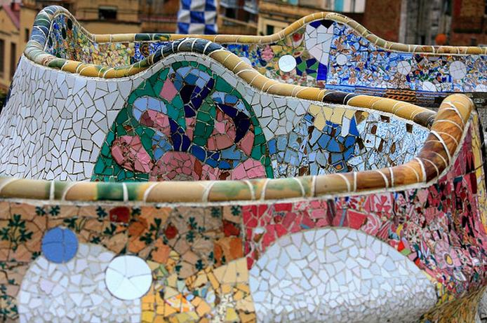 Antonio Gaudi's.Parc Guell,Barcelona.