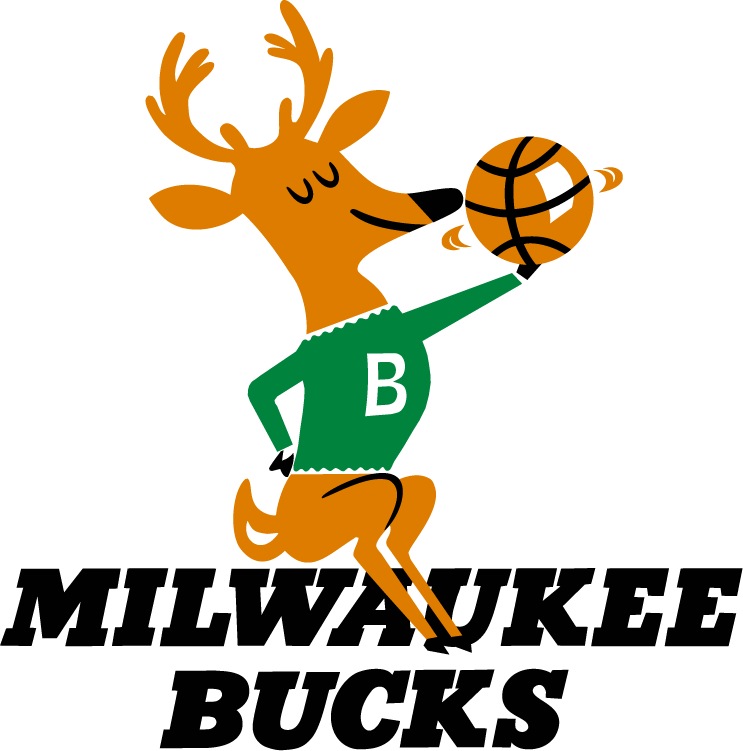 Milwaukee Bucks primary logo, 1968/69-1992/93.