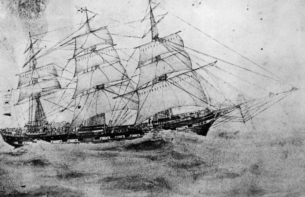 Illustration of the Essex whaleship.