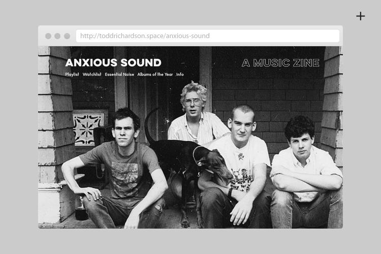 Anxious Sound — A music zine